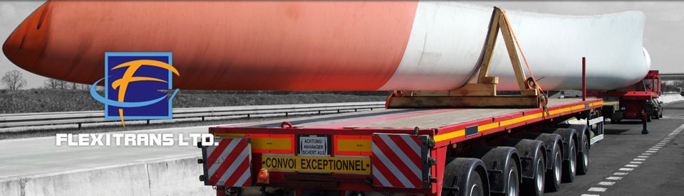 transportation of large abnormal load being a windturbine blade