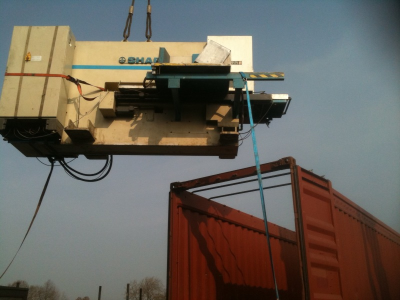 loading machinery destined for Alexandria