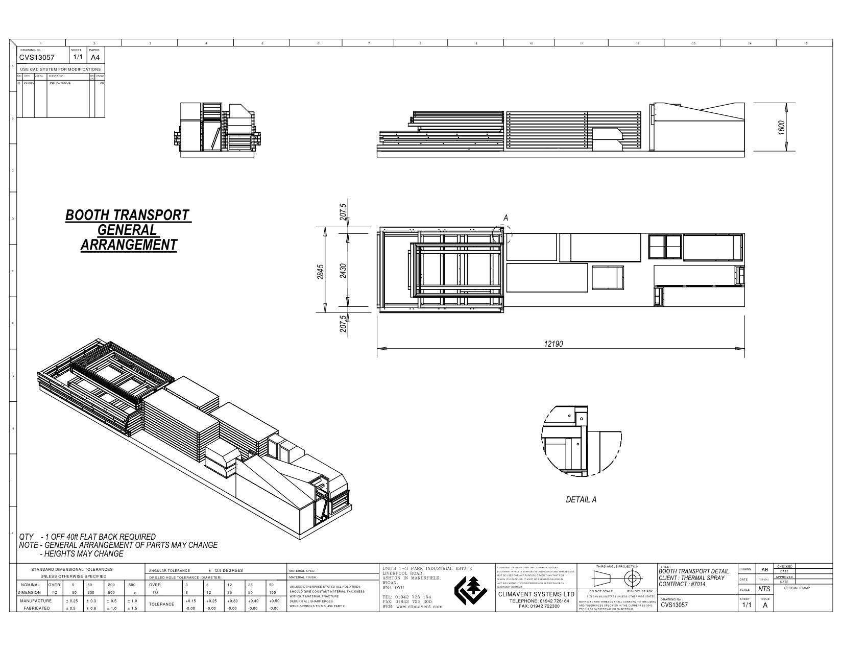 40ft flat bed loading plan