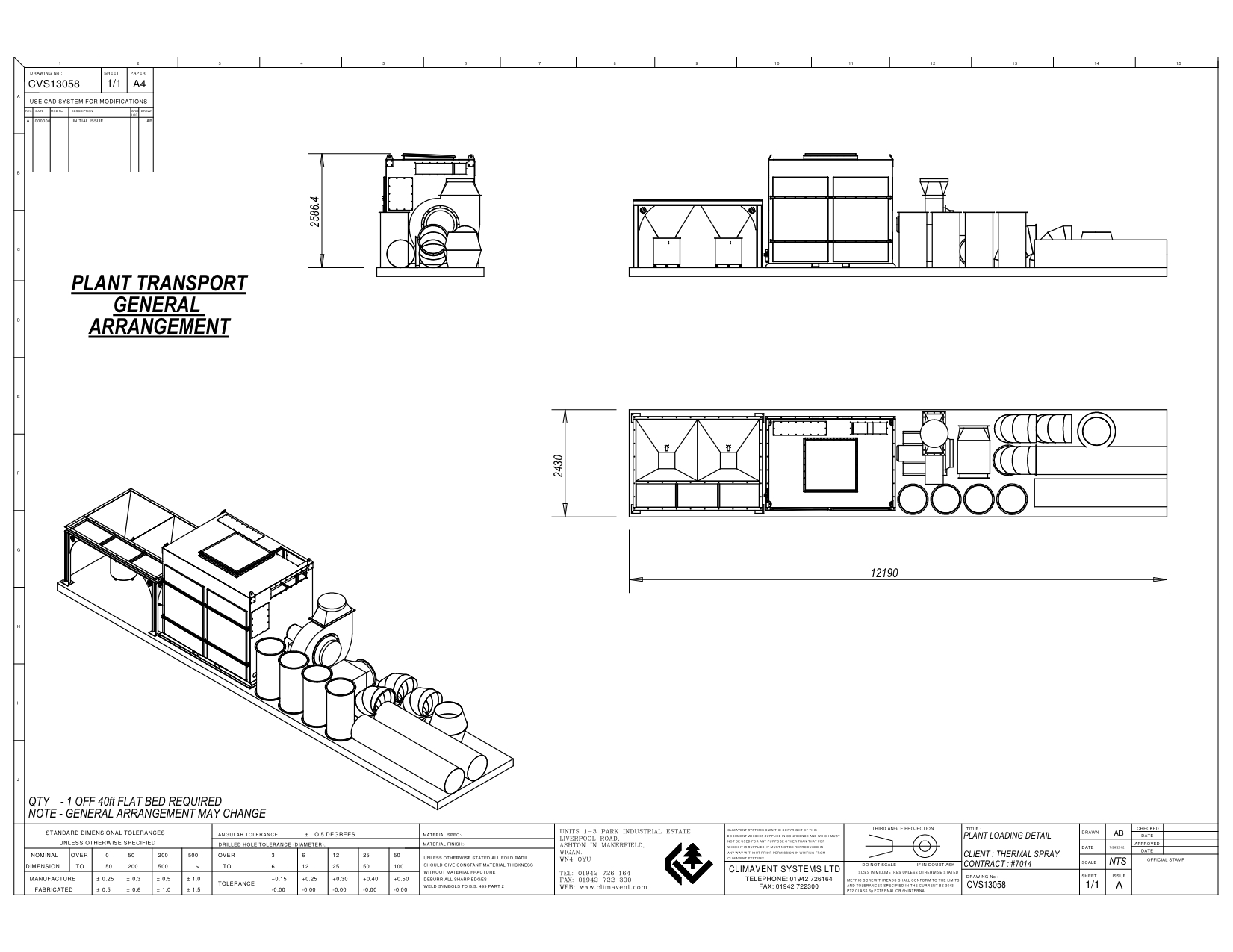 loading plan 40ft flat bed