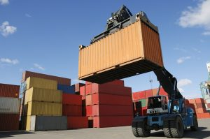 worldwide shipping and transportation with containers