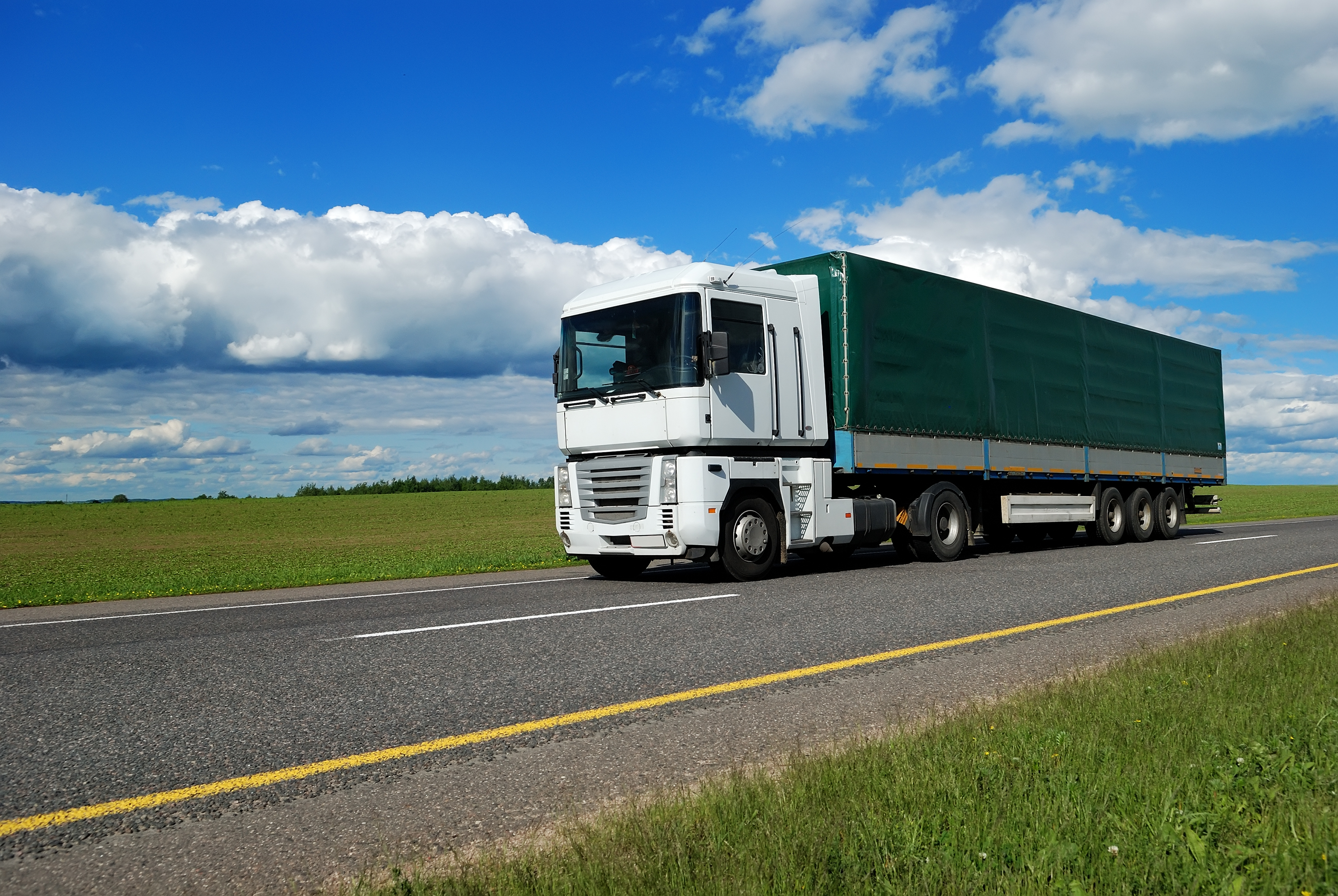 road haulage and transportation truck