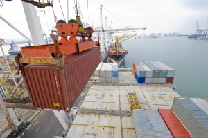 container load ready for transportation