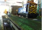 locomotive hauling the load