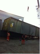 100T crane loading