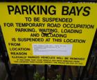 restricted parking sign