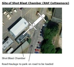 transporting the shot blast chamber