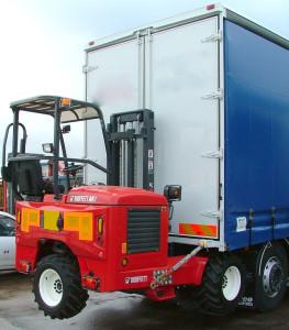 Moffett services transport forklift truck